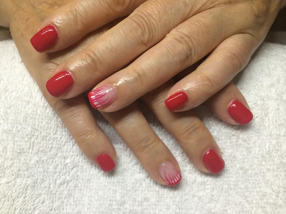 Shellac Wildfire met Nailart